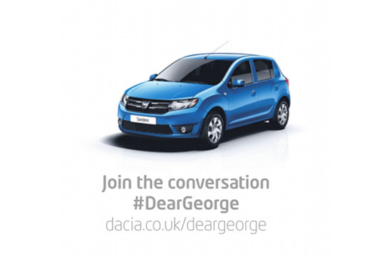 On UK Budget Day, Dacia Has a Message for George Osborne