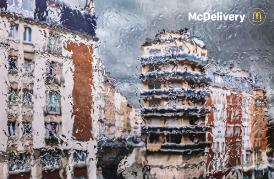 TBWA\Paris Peers Through Rain-Soaked Windows in Gorgeous McDonald's Print Ads