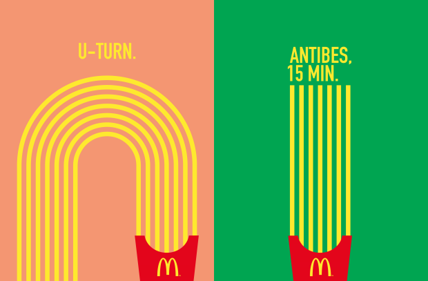 McDonald's Shows the Way with Minimalist French Fries Directional Campaign