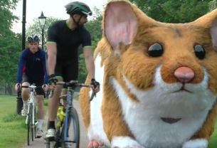 Giant Mechanical Hamster Roams the Streets of London for Kwik Fit Campaign