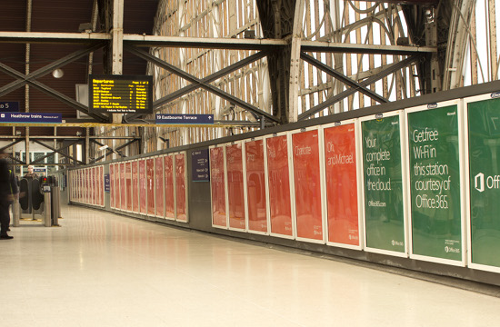 Microsoft Launch Biggest Train Station Takeover