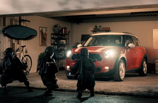 Ninja Dad Problems in Mini Crossover Ad