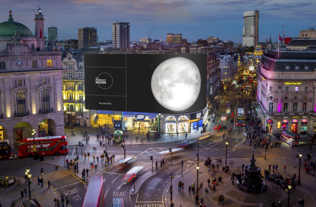 Ocean Outdoor to Mark Moon Landing Anniversary on Iconic Piccadilly Lights