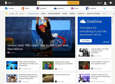 Microsoft Unveils First Look of New MSN