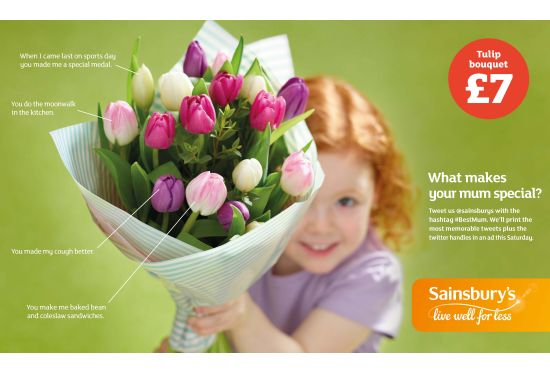 Sainsbury's Invites Kids to Say Thanks to Mum