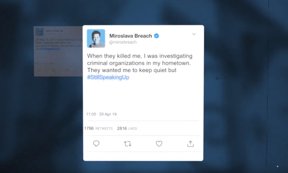 Campaign Gives Murdered Journalists a Voice Again Through Twitter