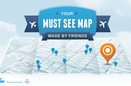 KLM Combines Social Media with Print