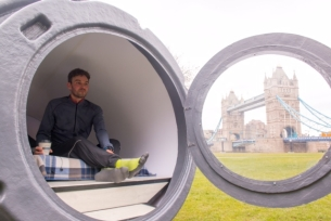Grab a 'Nappuccino' with Greggs' Giant Coffee Cup Sleep Pods