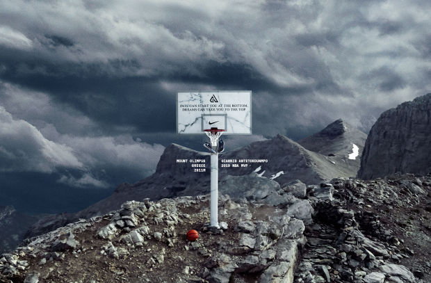 attraente e resistente Sconto del 60% numerosi in varietà Nike Put a Basketball Hoop on Mt. Olympus to Honour Giannis ...