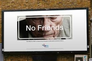 Age UK's Nod to Facebook 'Friends' Posters Delivers a Solemn Message