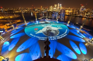 O2 Rallies England for the Rugby World Cup with World's Largest Light Projection