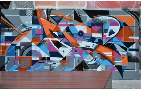 CRE8IVE and Graffiti Artist Vans Paints Town Ted