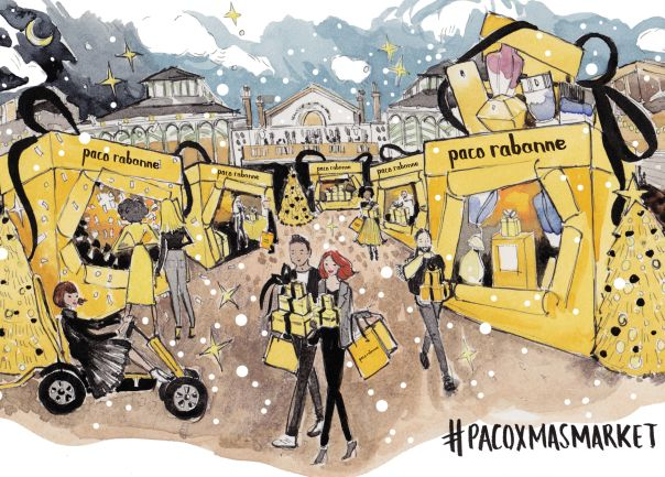 Paco Rabanne Fragrances Creates an Immersive Christmas Market Experience