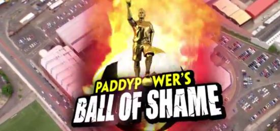 Paddy Power Unleashes 'Ball of Shame Player of the Year Awards'