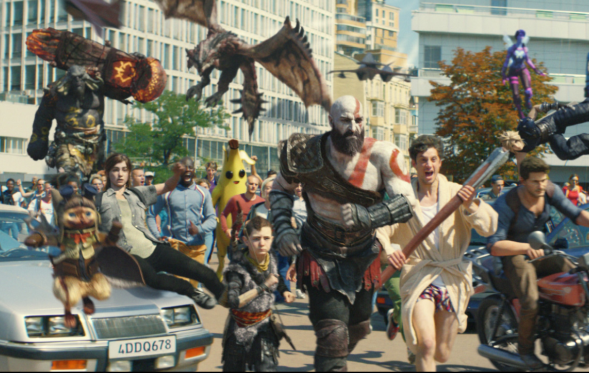 Video Game Characters Come Out to Play in Chaotic PlayStation 4 Spot