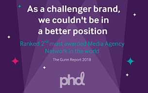 PHD Worldwide Ranked 2nd in Gunn Media 100's 'Most Awarded Networks' Report