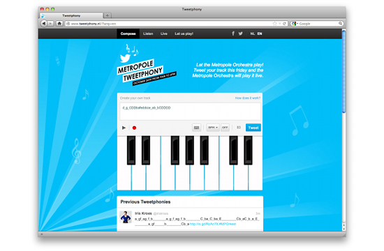 Leading Orchestra to Play Music from Tweets