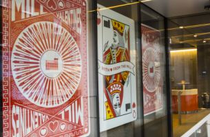 The Mill Spreads the Love with Valentine's Window Design