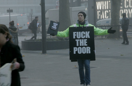 The Pillon Trust Launches Controversial 'Fuck The Poor' Campaign