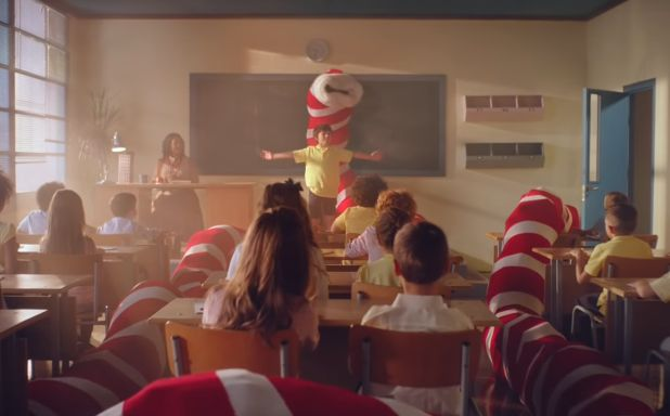 Never-Ending Christmas Stocking Burps Out Gifts in W+K London's TK Maxx Ad