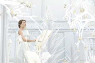 Quique Medina Conjures an Elegant Winter World for Beauty Brand Rochas