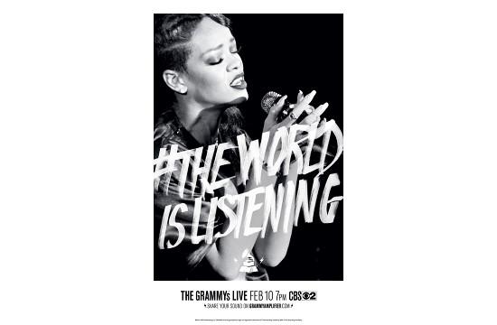 #TheWorldIsListening for 55th Grammy Awards