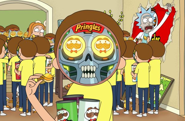 Rick and Morty Get Stuck in a Pringles Dimension in Big Game Ad