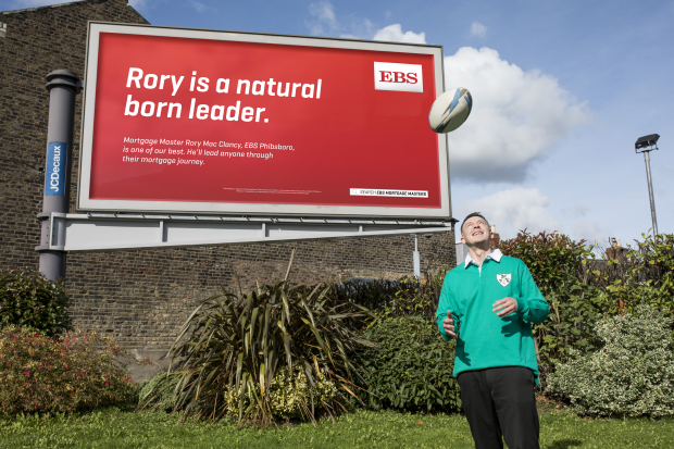 EBS Mortgage Masters Share Names with Irish Rugby Stars in OOH Campaign