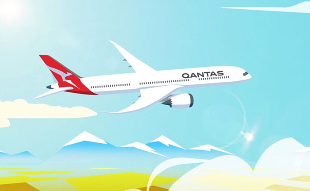 QANTAS Welcomes the Boeing 787-9 Dreamliner with a Jumbla Animation
