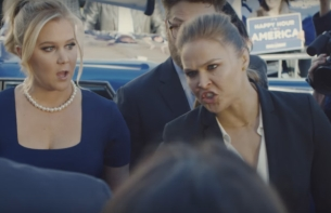 Ronda Rousey Joins the Super Bowl #BudLightParty with Seth Rogen & Amy Schumer