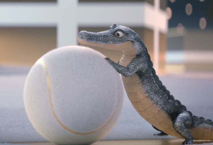 Lacoste's Crocodile Looks Adorable in the 2018 Fragrance Christmas Ad