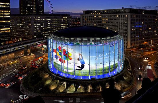 Samsung Turns London's IMAX Blue