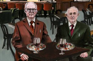 Alice Tye Paints Iconic Artistic Duo Gilbert and George