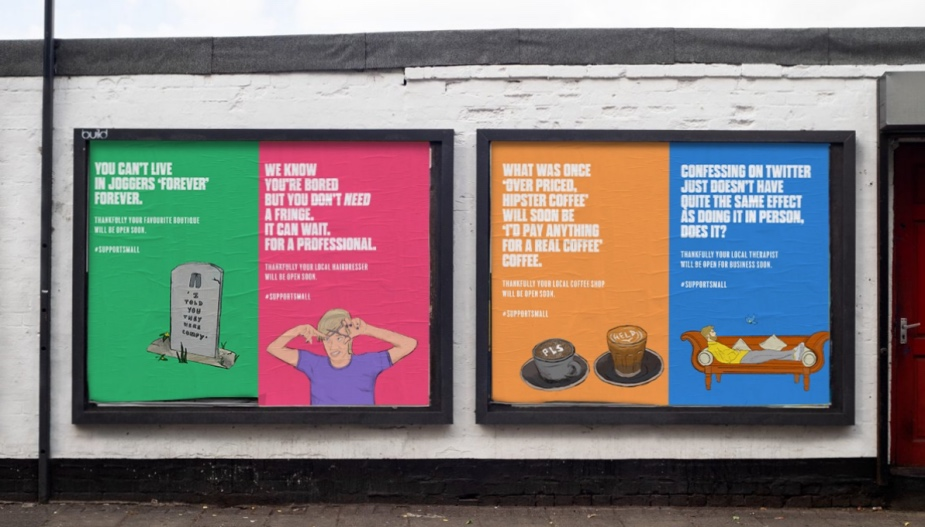 Hang Off from Your DIY Haircuts and #SupportSmall Urges Colourful Outdoor Campaign