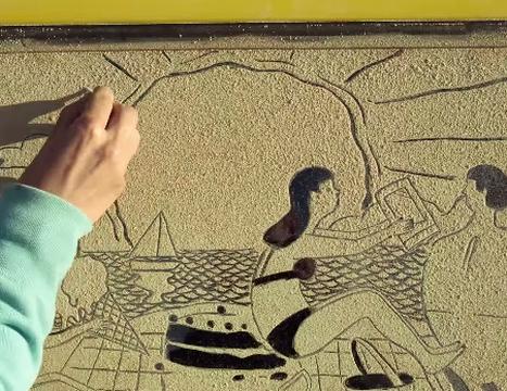 How JWT Used Kleenex to Create Sand Art on a Van