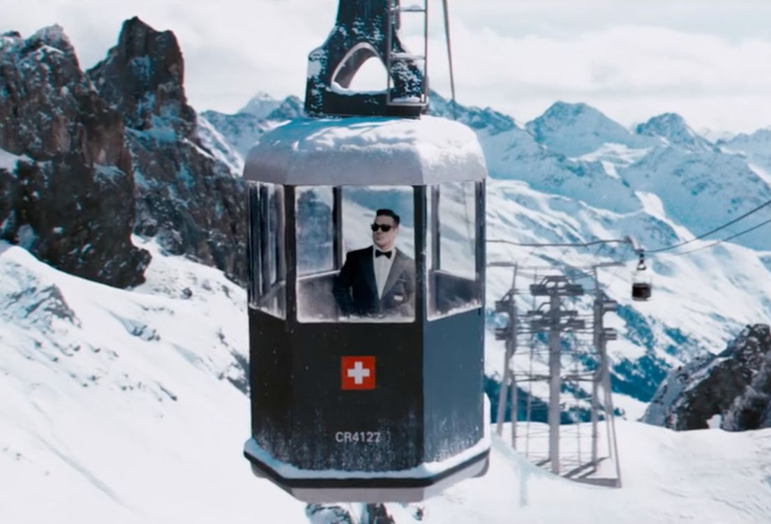 Robbie Williams Goes Full On Bond in Latest Campaign for Cafe Royal