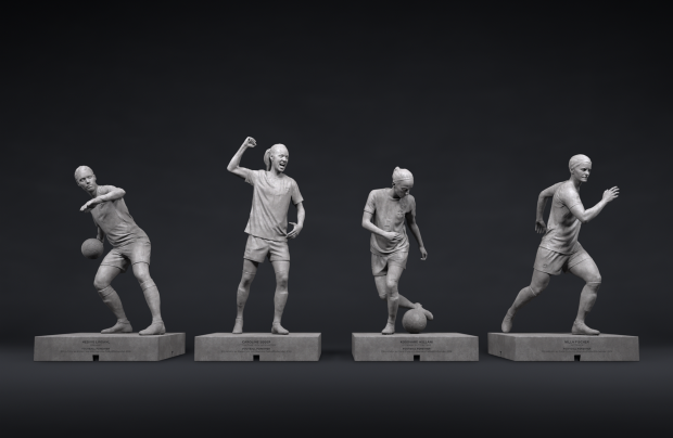 Isobar & Coca-Cola Unveil Female Football Star Statues in Sweden