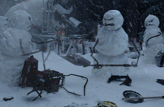 Nissan Rogue Tackles War-Waging Snowmen