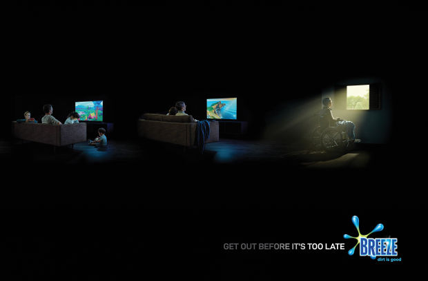 Breeze's Sobering Print Campaign Aims to Reduce Screen Time among Children