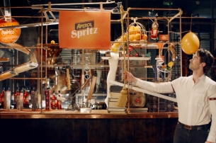 Aperol Spritz's Crazy Contraption Pulls Off 'The Perfect Serve'