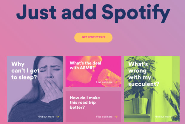 Spotify Launches 'Just Add Spotify' Digital Hub to Hack Adult-Life Problems