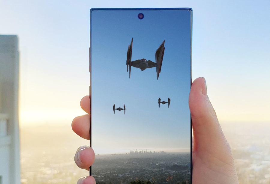 Starships Invade the Sky in Samsung's Star Wars AR Experience