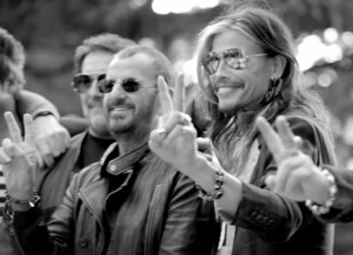 Ringo Starr, Jimmy Kimmel & Steve Tyler Drum it Out for John Varvatos