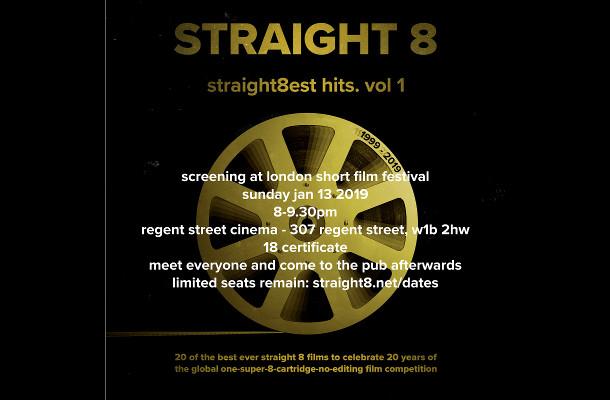 straight8est hits vol. 1 Hits London Short Film Festival this Sunday