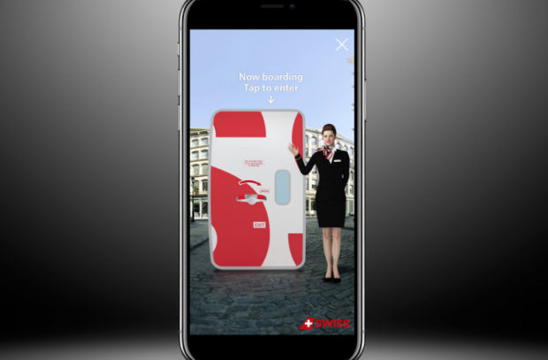 Swiss International Air Lines Jets Travelers to Destinations Unknown in New AR Experience