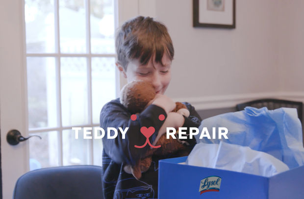 Lysol Launches 'Teddy Repair' Initiative to Protect Children's Most Beloved Possessions