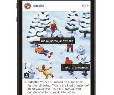 POKE Snaps a #TedsElfie with Christmas Instagram Campaign for Ted Baker
