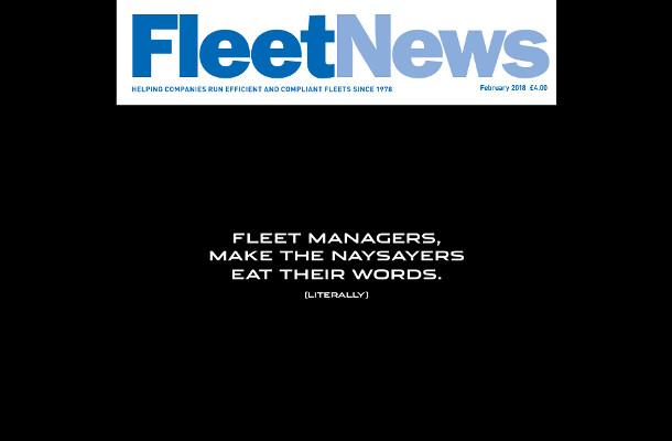 Jaguar Invites Fleet News Readers to 'Eat Their Words'