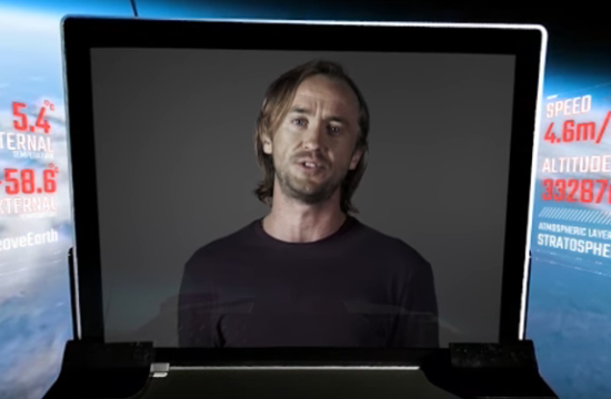 Tom Felton Heads to Space in Promo for New YouTube Originals Series