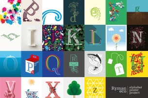 Grey London & Ryman Bring the Alphabet to Life with Beautiful Posters